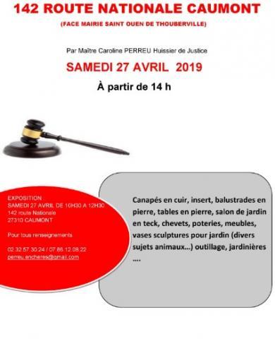VENTE AUX ENCHÈRES  27 AVRIL 2019